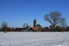 de-kerk-van-Hoornaar-in-de-sneeuw_Hoornaar-Marjolein 6835